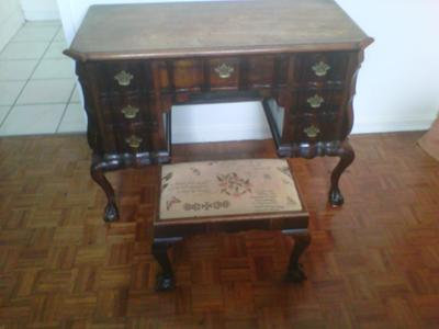 Phenomenal Antique Ball And Claw Desk And Chair Machost Co Dining Chair Design Ideas Machostcouk