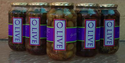 Our range of bottled olive products