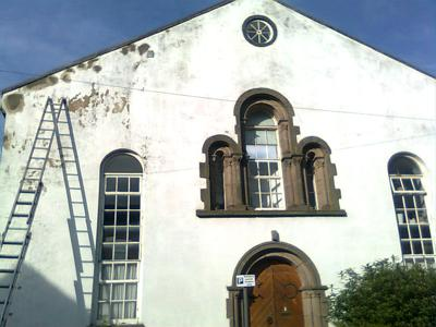 The People's Painter. working on Burns Street Chapel