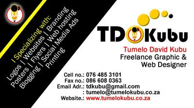 TDKubu Graphic and Web Design Business card
