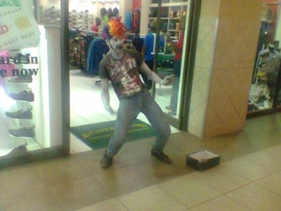 Clown Spots in Shopping Malls
