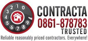Contracta builder construction logo