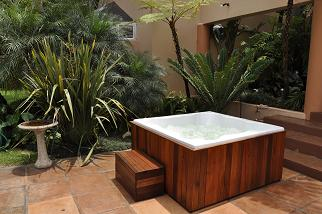 Outside Jacuzzi