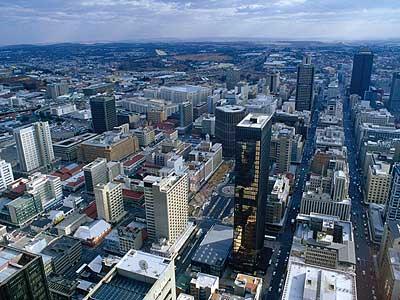 Bustling Johannesburg