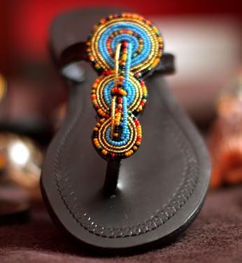 AFRICAN MAASAI SANDALS FROM KENYA